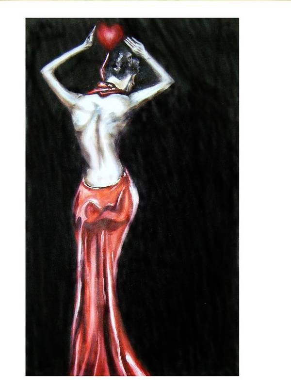 Love Art Print featuring the painting Shower Of Love by Olaoluwa Smith