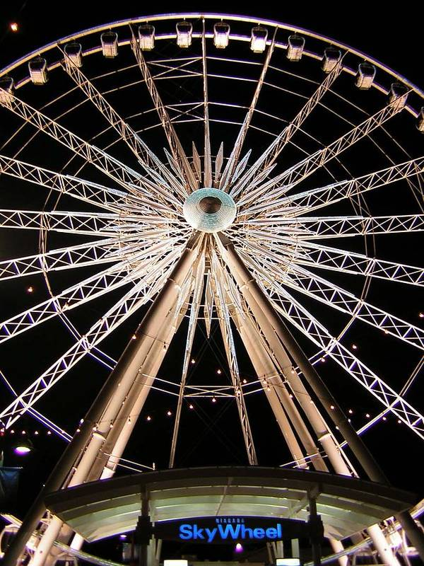 Sky Wheel Art Print featuring the photograph Sky Wheel by Heather Weikel