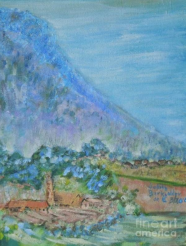Landscape Art Print featuring the painting Skyline Drive Begins by Judith Espinoza