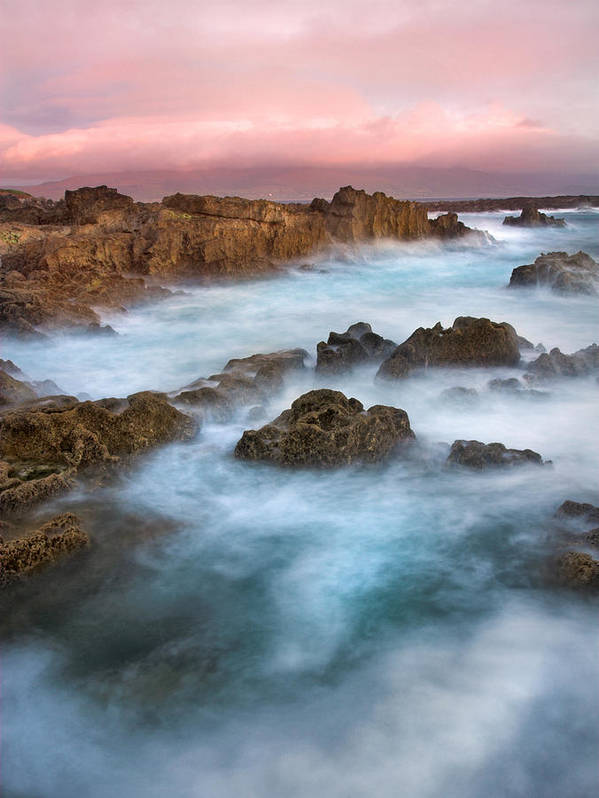 Kerry Art Print featuring the photograph Slow Exposure Of A Kerry Sunset Ireland by Pierre Leclerc Photography