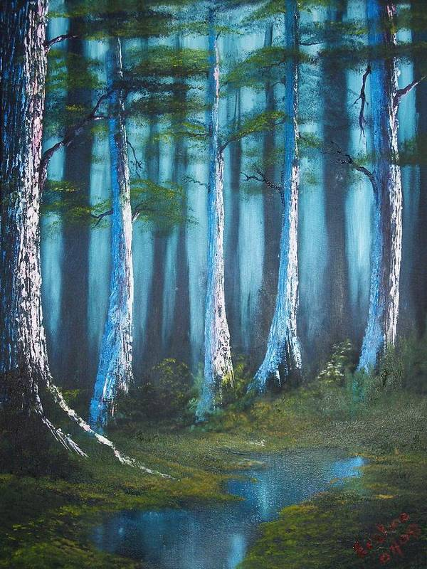 Landscape Art Print featuring the painting Solitude by Keith Erskine