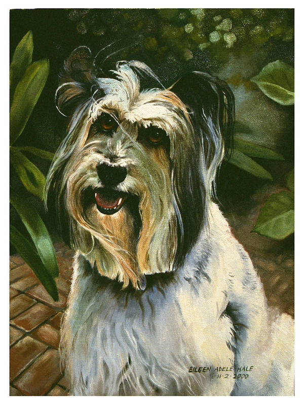 Portrait Art Print featuring the painting Sophie by Eileen Hale