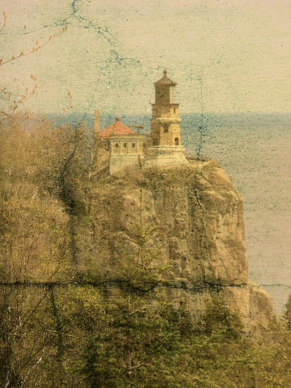Tingy Art Print featuring the photograph Split Rock by Tingy Wende