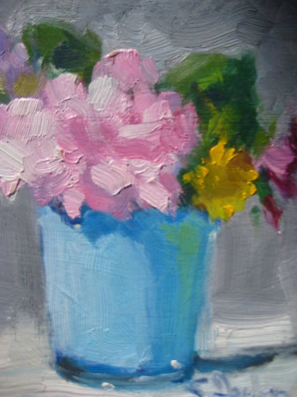 Floral Art Print featuring the painting Spring Bouquet by Susan Jenkins
