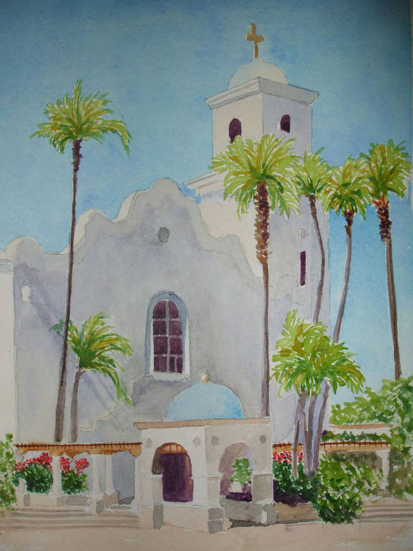Church Art Print featuring the painting St John Of The Cross by Ally Benbrook