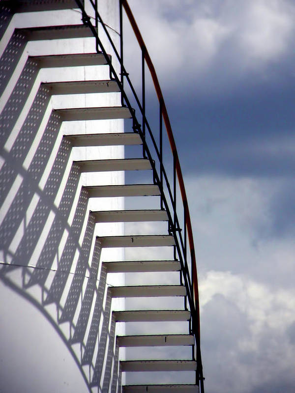 Stairs Art Print featuring the photograph Stairs In The Sky by David April