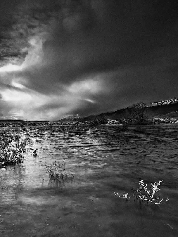 Eastern Sierra Art Print featuring the photograph Stormfront Portrait by Chris Morrison