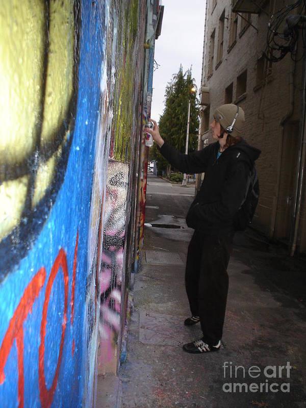 Urban Art Art Print featuring the photograph Street Art by Chandelle Hazen