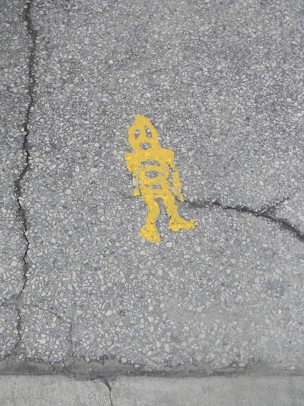 Street Art Print featuring the photograph Street Robot by Adam Hernandez