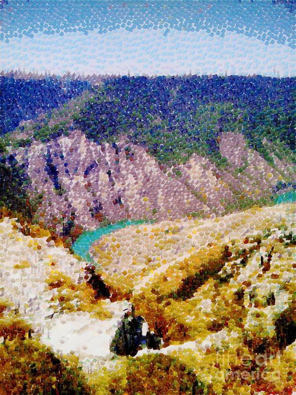 Canyon Art Print featuring the digital art Sulak Canyon by Magomed Magomedagaev