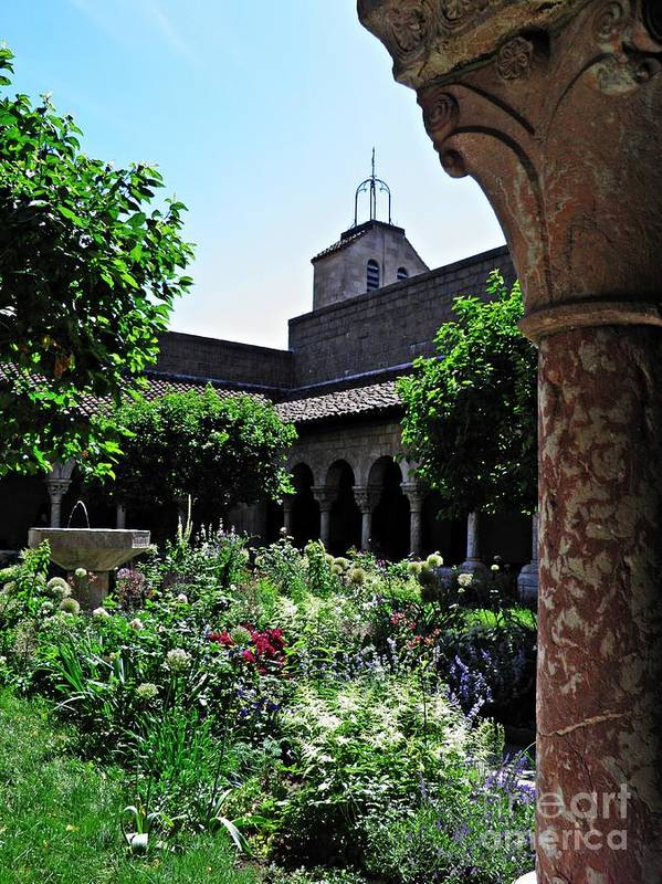 Cloister Art Print featuring the photograph Summer Gardens At The Cloisters 9  by Sarah Loft