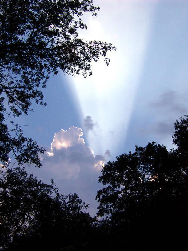 Sky Art Print featuring the photograph Sunbeam by Nicole I Hamilton