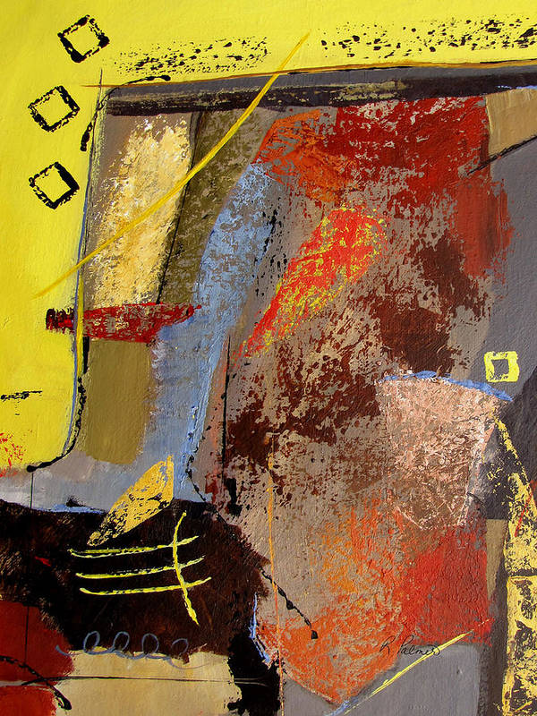 Abstract Art Print featuring the painting Sunny Disposition by Ruth Palmer