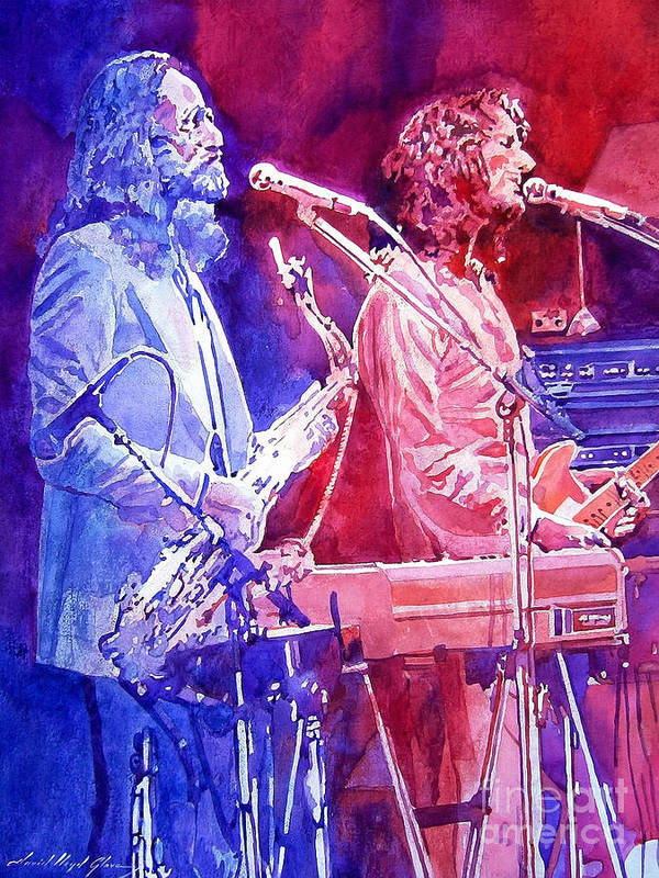 Supertramp Art Print featuring the painting Supertramp by David Lloyd Glover