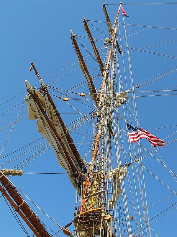 Wooden Print featuring the photograph Tall Ship Series 8 by Scott Hovind
