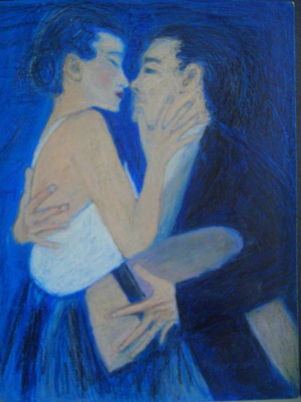 Couples Feelings Painted In The Argentina Tango Art Print featuring the pastel Tango by Moneca AtleyLoring