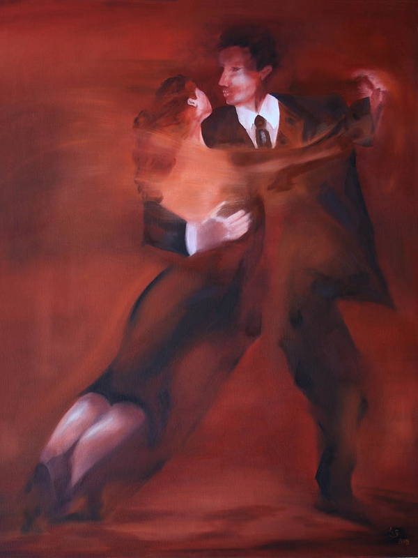 Tango Art Print featuring the painting Tango No.1 by Harri Spietz