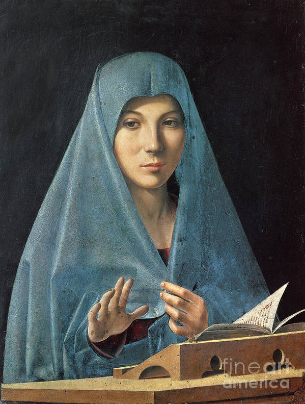 The Print featuring the painting The Annunciation by Antonello da Messina