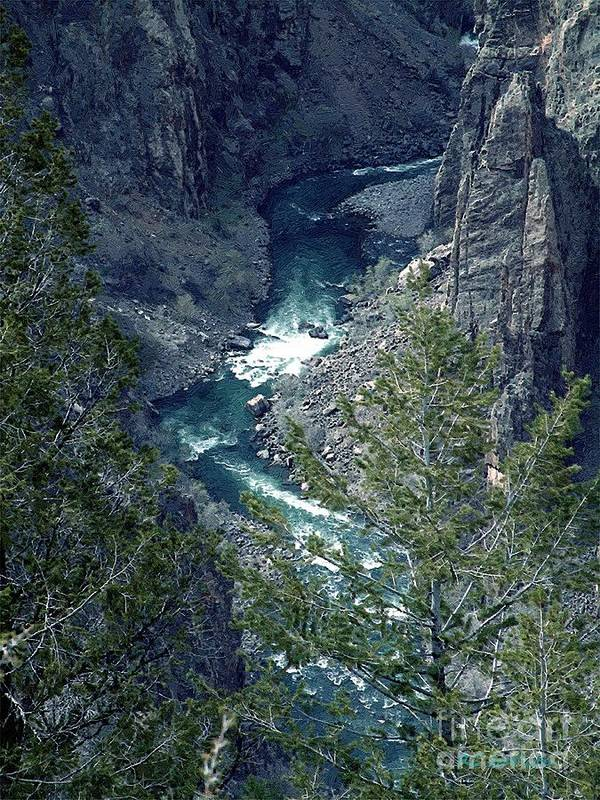 Canyon Art Print featuring the painting The Black Canyon Of The Gunnison by RC DeWinter