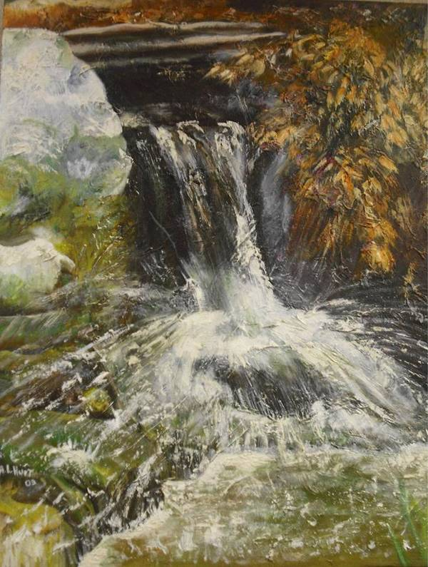 Water Art Print featuring the painting The Botainial Gardens by Anthony Hurt