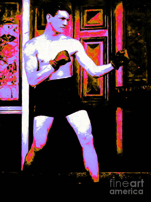 Sport Art Print featuring the photograph The Boxer - 20130207 by Wingsdomain Art and Photography