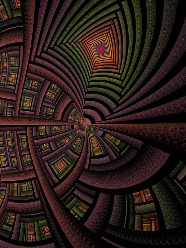 Abstract Art Print featuring the digital art The Eschereschaton by Ian Duncan Anderson