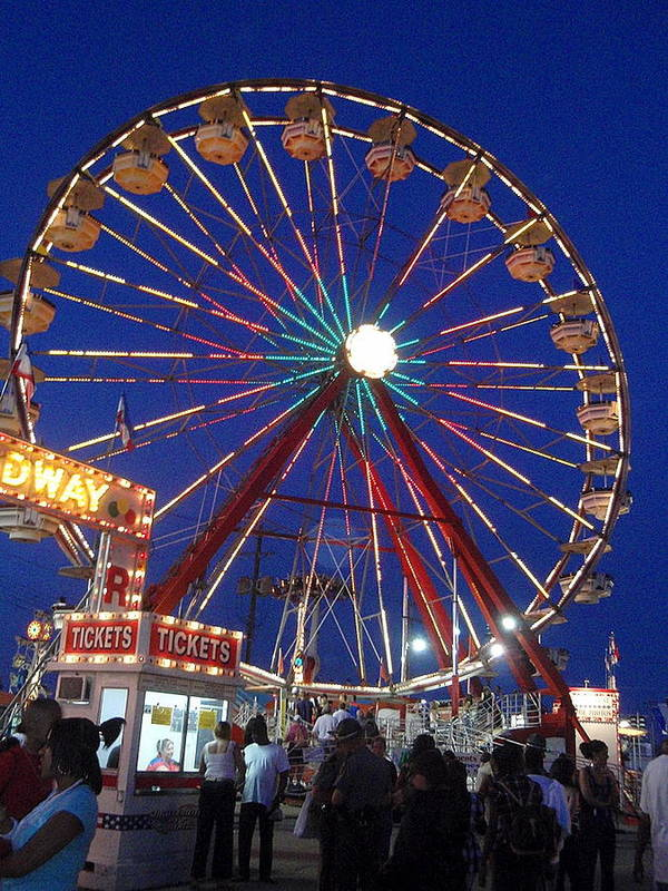 Wittenberg Art Print featuring the photograph The Fair At Night by Beth Akerman
