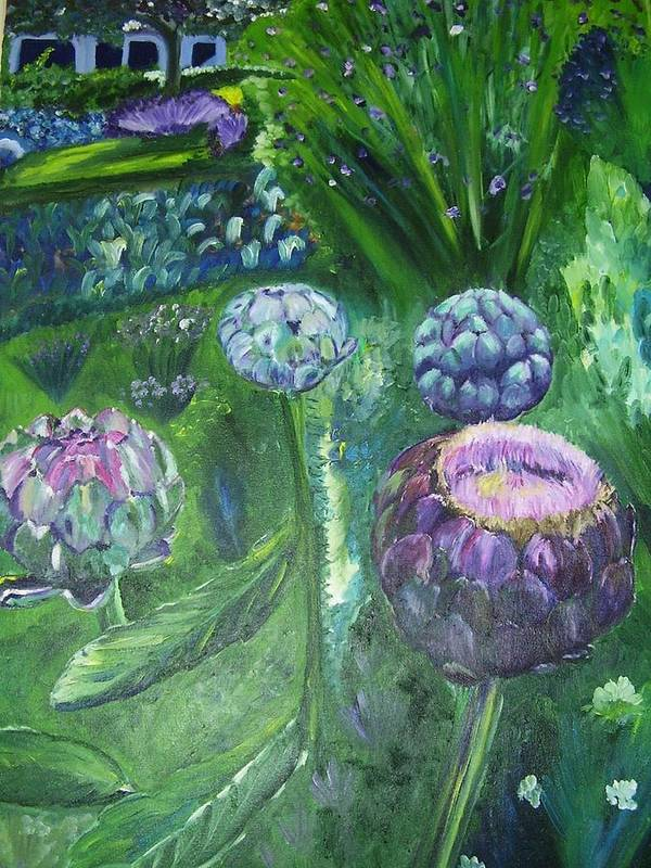 Vegetables Art Print featuring the painting The Garden by Murielle Hebert