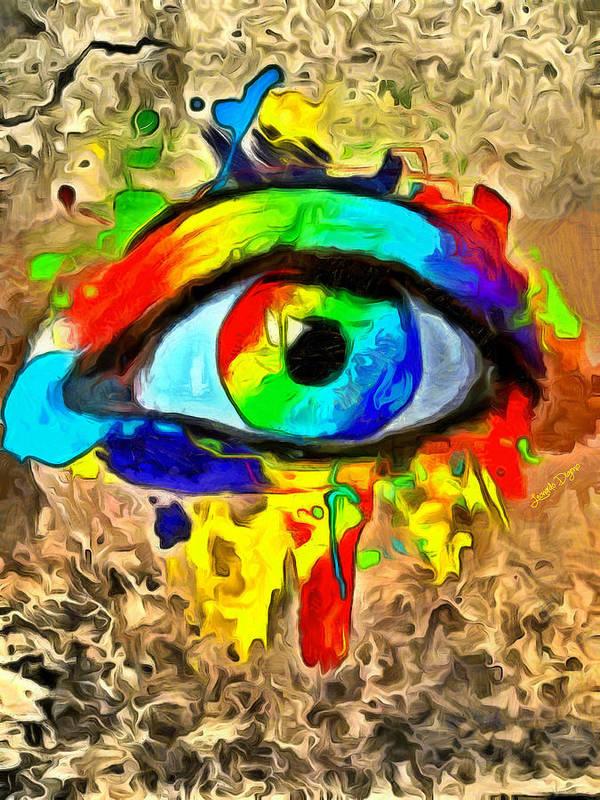 Rock Beauty Art Print featuring the painting The New Eye Of Horus by Leonardo Digenio