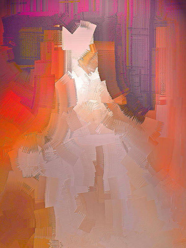 Abstract Art Print featuring the digital art The Past Warns The Future by Michael Durst