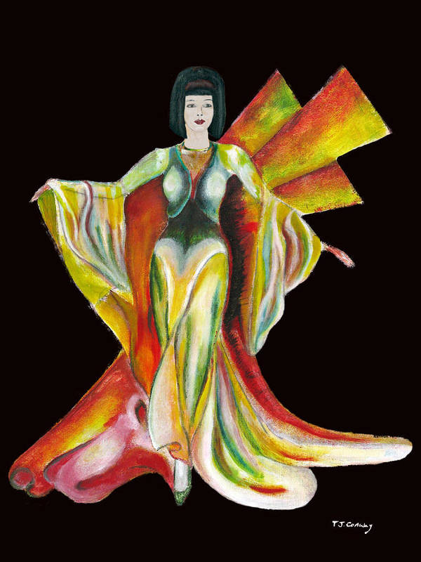 Dresses Art Print featuring the painting The Phoenix 2 by Tom Conway