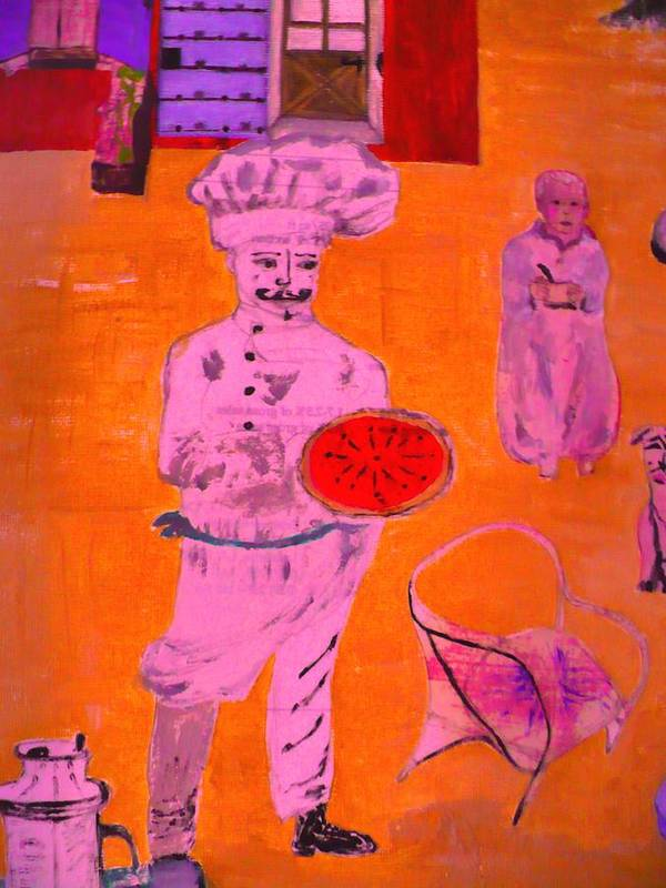 Domaine Art Print featuring the digital art The Pizza Theos. by Corinne Ertle