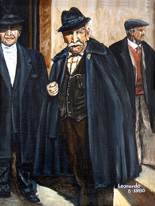 People Art Print featuring the painting The Real Godfather by Leonardo Ruggieri