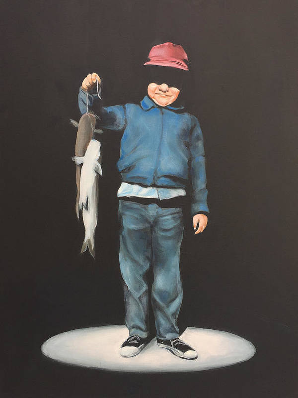 Boy Art Print featuring the painting The Red Cap by Jeffrey Bess