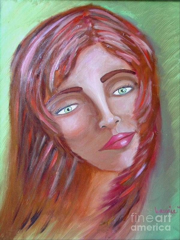 Redheads Art Print featuring the painting The Redhead by Laurie Morgan