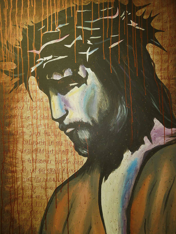 Jesus Art Print featuring the painting The Ultimate Sacrifice by Hannah Greer