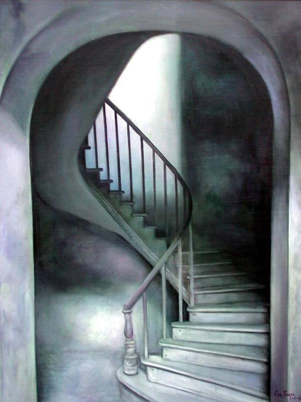 Realism Art Print featuring the painting The Upper Room by Riek Jonker