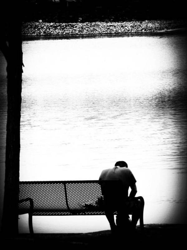 River Art Print featuring the photograph Thinker by Cat Jackson
