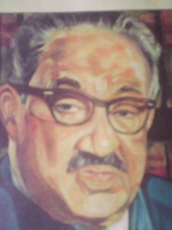 Portraits Art Print featuring the painting Thurgood Marshall by Impressionist FineArtist Tucker Demps Collection