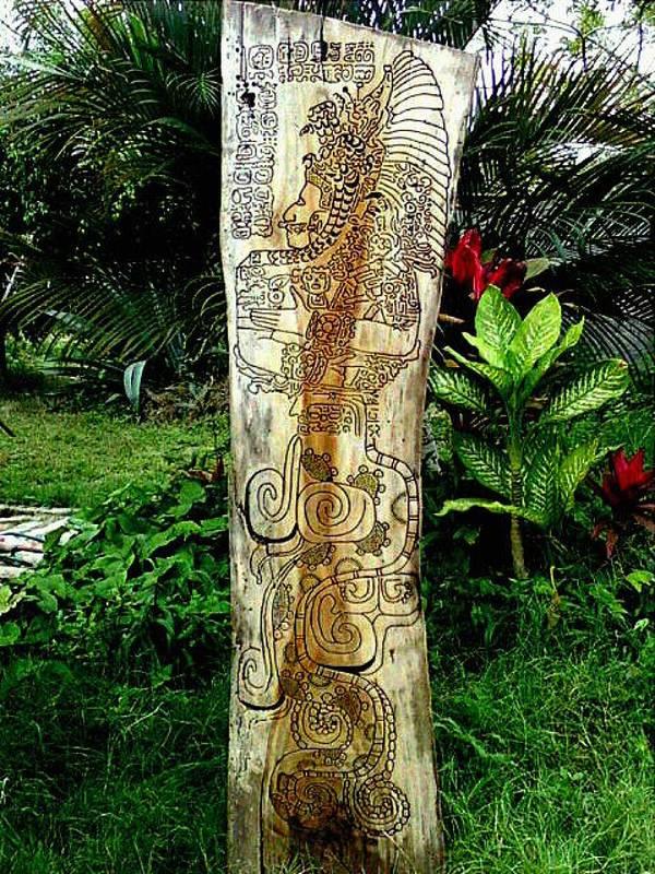 Totem Art Print featuring the relief Totem Serpiente Emplumada by Calixto Gonzalez