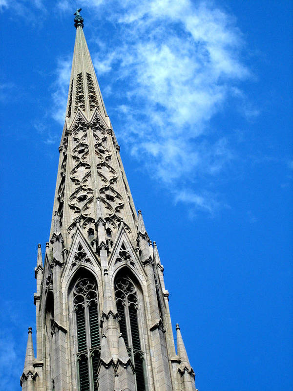 Cathedral Art Print featuring the photograph Tower by Cara Maler