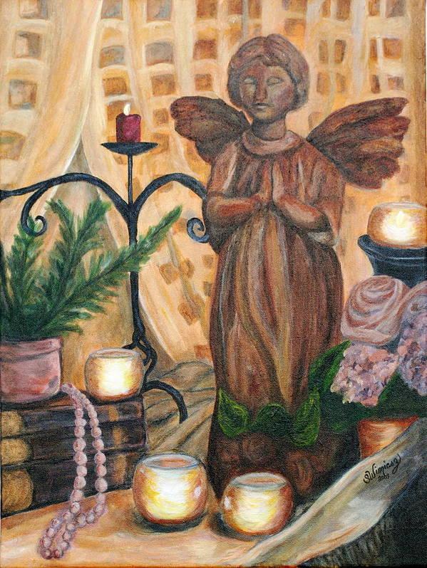 Treasures Art Print featuring the painting Treasures by Sandra Winiasz