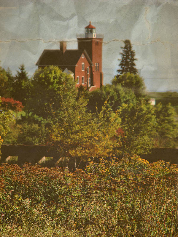 Layers Art Print featuring the photograph Two Harbors Lighthouse by Tingy Wende