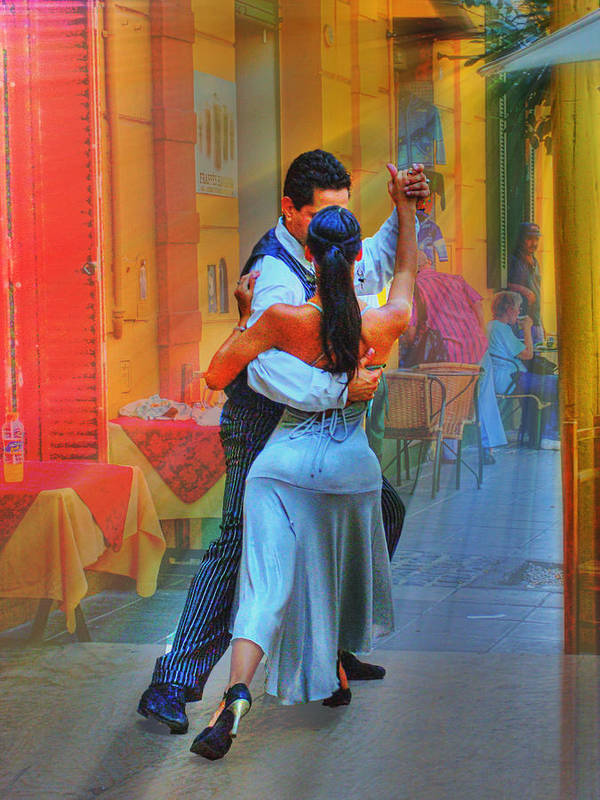 Dance Art Print featuring the photograph Two Tango by Francisco Colon