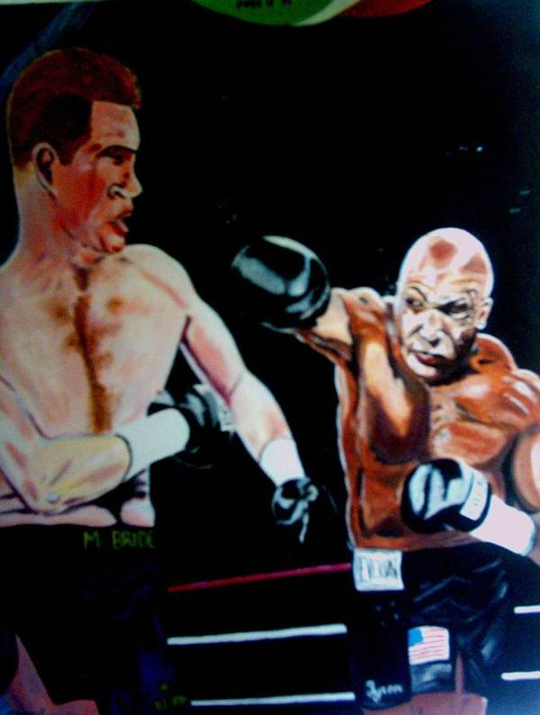 Mike Tyson Art Print featuring the painting Tyson by Colin O neill