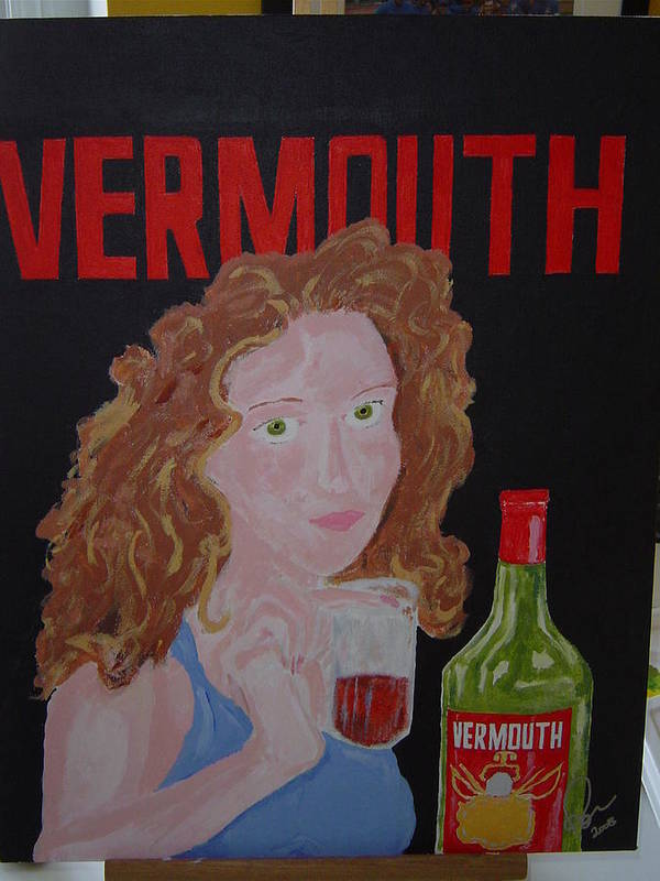 Acrylic Art Print featuring the painting Vermouth by Raymond Nash
