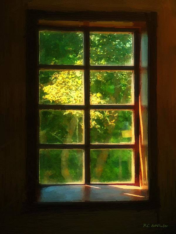 Autumn Art Print featuring the painting View From The Orwell Corner Church by RC DeWinter