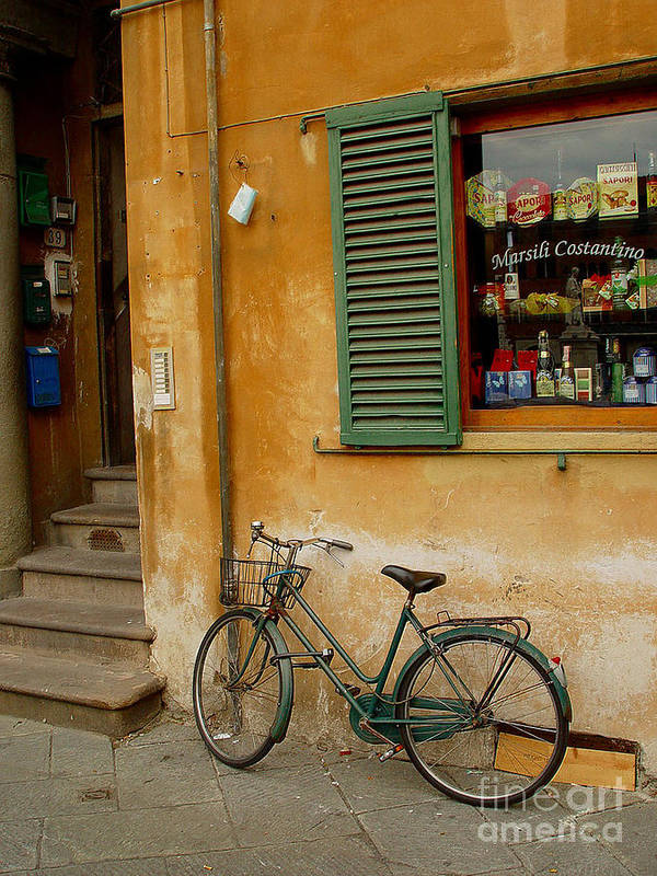 Bicycle Art Print featuring the photograph Visions Of Italy 4 by Nancy Bradley
