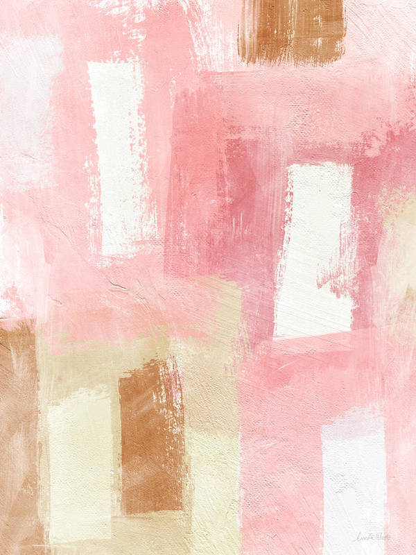 Abstract Painting Art Print featuring the painting Warm Spring 2- Abstract Art By Linda Woods by Linda Woods