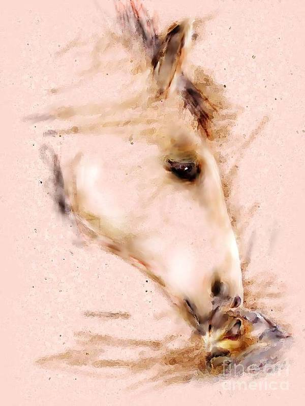 Horse Art Print featuring the painting Warm Winter Song by Donna Aloia